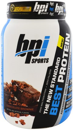 Best Protein, Advanced 100% Protein Formula, Chocolate Brownie, 2.1 lbs (952 g) by BPI Sports, 運動,補品,乳清蛋白 HK 香港