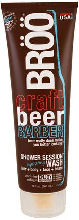 Crafted Beer Barber, Shower Session Hydrating Wash, Fresh Scent, 9 fl oz (266 ml) by BR, 洗澡,美容,沐浴露 HK 香港