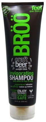 Invigorating Shampoo, Malted Mint, 8.5 fl oz (250 ml) by BR, 洗澡,美容,頭髮,頭皮,洗髮水,護髮素 HK 香港