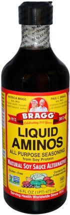 Liquid Aminos, Natural Soy Sauce Alternative, 16 fl oz (473 ml) by Bragg, 布拉格液體氨基酸 HK 香港