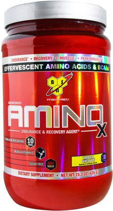 Amino X, Endurance & Recovery Agent, Tropical Pineapple, 15.3 oz (435 g) by BSN, 運動,運動,肌肉 HK 香港