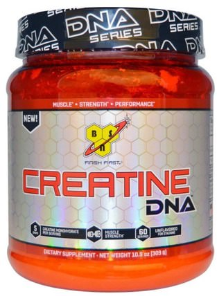 Creatine DNA, Unflavored, 10.9 oz (309 g) by BSN, 運動,肌酸,運動 HK 香港