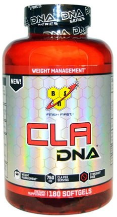DNA Series, CLA DNA, 180 Softgels by BSN, 減肥,飲食,cla(共軛亞油酸) HK 香港
