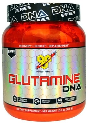 DNA Series, Glutamine DNA, Unflavored, 10.9 oz (309 g) by BSN, 補充劑,氨基酸,l谷氨酰胺,l谷氨酰胺粉末,運動,運動 HK 香港