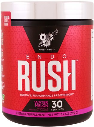 Endorush, Pre-Workout, Watermelon, 13.7 oz (390 g) by BSN, 健康,精力 HK 香港