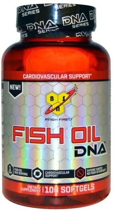 Fish Oil, DNA, Cardiovascular Support, 100 Softgels by BSN, 補充劑,efa omega 3 6 9(epa dha),魚油,魚油軟膠囊 HK 香港