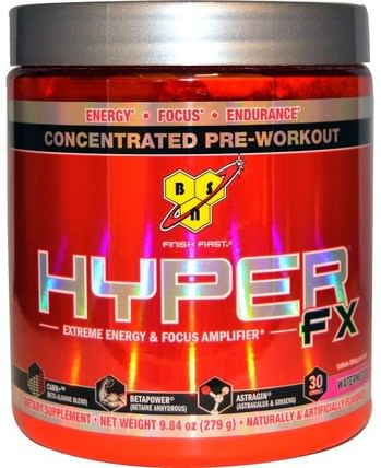 Hyper-FX, Extreme Energy & Focus Amplifier, Watermelon, 9.84 oz (279 g) by BSN, 健康,能量,運動,鍛煉 HK 香港