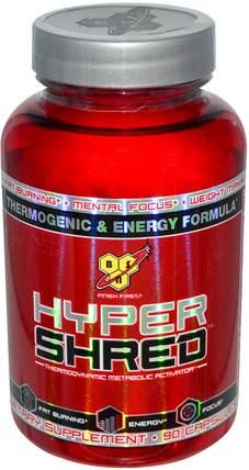 Hyper Shred, Thermodynamic Metabolic Activator, 90 Capsules by BSN, 健康,能量,減肥,飲食,脂肪燃燒器 HK 香港