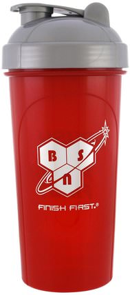 Leak-Proof Shaker Bottle with Vortex Mixer, 25 oz (700 ml) by BSN, 家居,廚具,杯碟碗,運動,健身水瓶振動篩杯 HK 香港