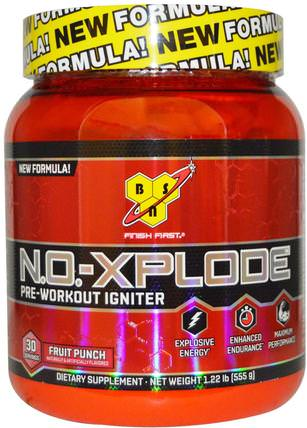 N.O.-Xplode, Pre-Workout Igniter, Fruit Punch, 1.22 lbs (555 g) by BSN, 健康,能量,運動,鍛煉 HK 香港