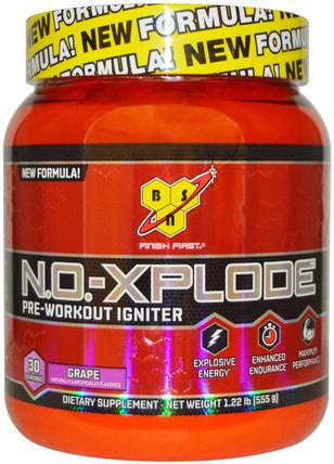 N.O.-Xplode, Pre-Workout Igniter, Grape, 1.22 lbs (555 g) by BSN, 健康,能量,運動,鍛煉 HK 香港