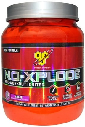 N.O.-Xplode, Pre-Workout Igniter, Grape, 2.45 lbs (1.11 kg) by BSN, 健康 HK 香港
