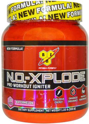 N.O.-Xplode, Pre-Workout Igniter, Watermelon, 1.22 lbs (555 g) by BSN, 健康,能量,運動,鍛煉 HK 香港