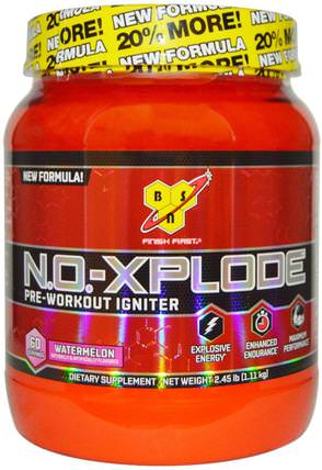 N.O.-Xplode, Pre-Workout Igniter, Watermelon, 2.45 lbs (1.11 kg) by BSN, 健康,能量,運動,鍛煉 HK 香港