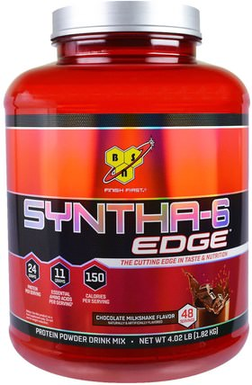 Syntha-6 Edge, Protein Powder Drink Mix, Chocolate Milkshake Flavor, 4.02 lb (1.82 kg) by BSN, 健康 HK 香港