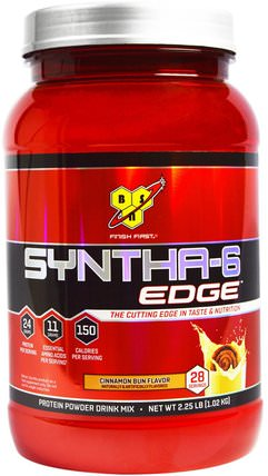 Syntha-6 Edge, Protein Powder Drink Mix, Cinnamon Bun Flavor, 2.25 lb (1.02 kg) by BSN, 補充劑,乳清蛋白 HK 香港