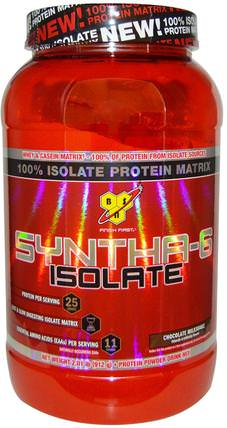 Syntha-6 Isolate, Protein Powder Drink Mix, Chocolate Milkshake, 2.01 lb (912 g) by BSN, 補充劑,乳清蛋白 HK 香港