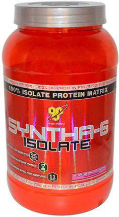 Syntha-6 Isolate, Protein Powder Drink Mix, Strawberry Milkshake, 2.01 lbs (912 g) by BSN, 補充劑,乳清蛋白 HK 香港