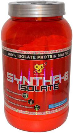 Syntha-6 Isolate, Protein Powder Drink Mix, Vanilla Ice Cream, 2.01 lbs (912 g) by BSN, 補充劑,乳清蛋白 HK 香港