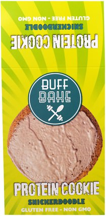 Protein Cookie, Snickerdoodle, 12 Cookies, 2.82 oz (80 g) Each by Buff Bake, 補品,蛋白質,零食,餅乾 HK 香港