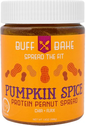Pumpkin Spice Protein Peanut Spread, 13 oz (368 g) by Buff Bake, 食物,果醬蔓延 HK 香港