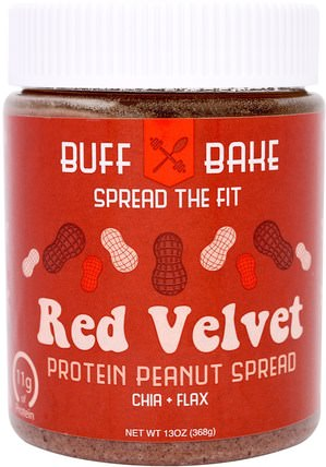 Red Velvet Protein Peanut Spread, 13 oz (368 g) by Buff Bake, 食物,花生醬 HK 香港