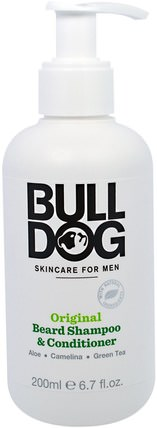 Original Beard Shampoo & Conditioner, 6.7 fl oz (200 ml) by Bulldog Skincare For Men, 洗澡,美容,頭髮,頭皮,洗髮水,護髮素 HK 香港