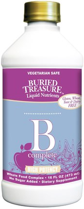 Nutritionals, B Complete, 16 fl oz (473 ml) by Buried Treasure, 埋藏寶藏多種維生素和礦物質,埋藏寶藏男人 HK 香港
