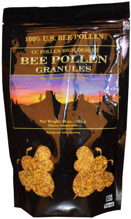 High Desert, Bee Pollen Granules, 16 oz (454 g) (Ice) by C.C. Pollen, 冰鎮製冷產品,補充劑,蜂花粉 HK 香港