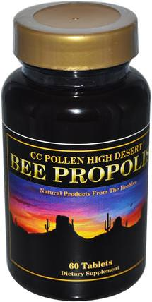 High Desert Bee Propolis, 60 Tablets by C.C. Pollen, 補充劑,蜂產品,蜂膠 HK 香港