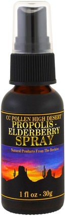 Propolis Elderberry Spray, 1 fl oz (30 g) by C.C. Pollen, 補充劑,蜂產品,蜂膠 HK 香港