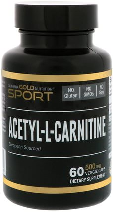 CGN, Sport, Acetyl-L-Carnitine, 500 mg, 60 Veggie Caps by California Gold Nutrition, cgn純運動,cgn氨基酸,抗衰老 HK 香港