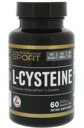 CGN, Sport, L-Cysteine, AjiPure, 500 mg, 60 Veggie Caps by California Gold Nutrition, cgn純運動,cgn氨基酸 HK 香港