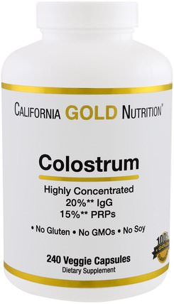 CGN, Colostrum, 240 Veggie Capsules by California Gold Nutrition, cgn初乳,補品,初乳 HK 香港