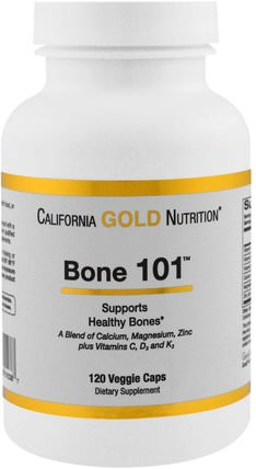 CGN, Targeted Support, Bone 101, 120 Veggie Capsules by California Gold Nutrition, cgn條件101,補充劑,鈣維生素d HK 香港