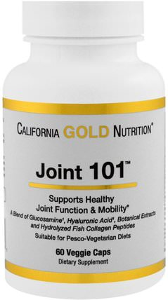CGN, Targeted Support, Joint 101, 60 Veggie Capsules by California Gold Nutrition, cgn條件101,抗衰老 HK 香港