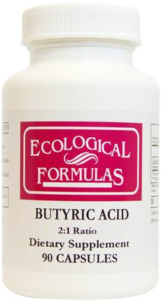 Butyric Acid, 90 Capsules by Cardiovascular Research Ltd., 補充劑,礦物質,鈣和鎂 HK 香港