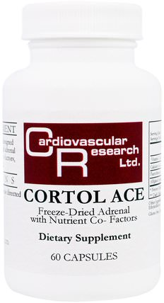 Cortol Ace, 60 Capsules by Cardiovascular Research Ltd., 補充劑,腎上腺,牛產品 HK 香港