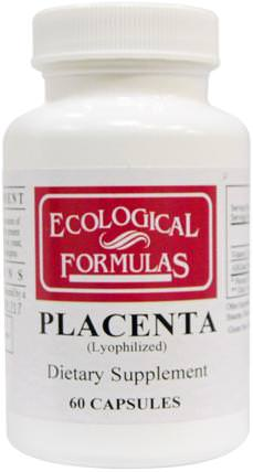 Ecological Formulas, Placenta (Lyophilized), 60 Capsules by Cardiovascular Research Ltd., 健康,感冒和病毒,免疫系統 HK 香港