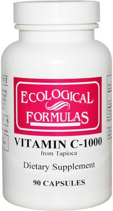 Ecological Formulas, Vitamin C-1000, 90 Capsules by Cardiovascular Research Ltd., 維生素,維生素c HK 香港