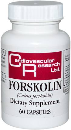 Forskolin, 60 Capsules by Cardiovascular Research Ltd., 健康,錦紫蘇forskohlii HK 香港