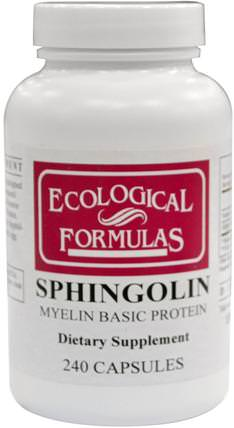 Sphingolin, Myelin Basic Protein, 240 Capsules by Cardiovascular Research Ltd., 補品,牛產品,健康 HK 香港