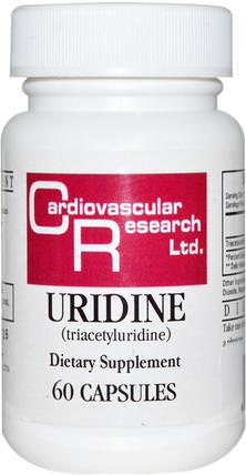 Uridine, 60 Capsules by Cardiovascular Research Ltd., 健康,注意力缺陷障礙,添加,adhd,腦 HK 香港