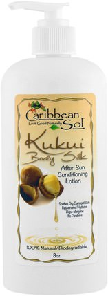 Kukui Body Silk, After Sun Conditioning Lotion, 8 oz by Caribbean Solutions, 洗澡,美容,潤膚露 HK 香港