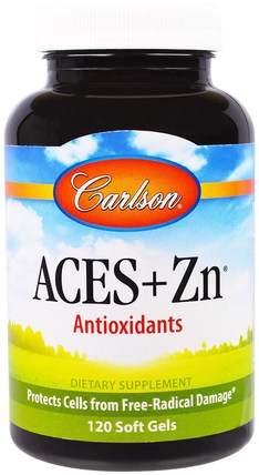 Aces + Zn, 120 Soft Gels by Carlson Labs, 補充劑,抗氧化劑,維生素 HK 香港