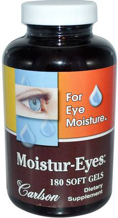 Moisture-Eyes, 180 Soft Gels by Carlson Labs, 健康,眼保健,視力保健,視力 HK 香港