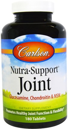 Nutra-Support Joint, 180 Tablets by Carlson Labs, 健康,骨骼,骨質疏鬆症,關節健康 HK 香港
