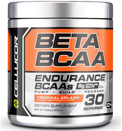 Beta BCAA, Endurance BCAAs, Tropical Splash, 12.2 oz (348 g) by Cellucor, 補充劑,氨基酸,bcaa(支鏈氨基酸) HK 香港