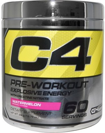 C4, Pre-Workout, Explosive Energy, Watermelon, 13.75 oz (390 g) by Cellucor, 運動,肌酸,鍛煉 HK 香港