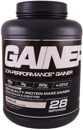 Cor-Performance Gainer, Vanilla, 5.37 lbs (2436 g) by Cellucor, 運動,補品,蛋白質 HK 香港
